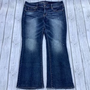 American Eagle 14 Regular Kick Boot Stretch Jeans